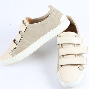 RAG & BONE LEATHER CANVAS Velcro Sneakers